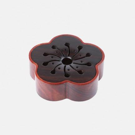 暗香檀木香盒/首饰盒 | 红黑檀木打造 优雅梅花造型