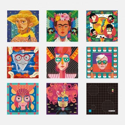 波普艺术插画眼镜布 | 萨尔瓦多·达利、大卫·鲍伊、安迪·沃霍尔、草间弥生可选