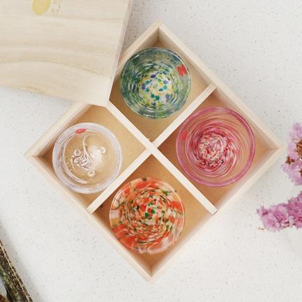 日本原装四季杯礼盒装 | 手工制作 每只都别具一格