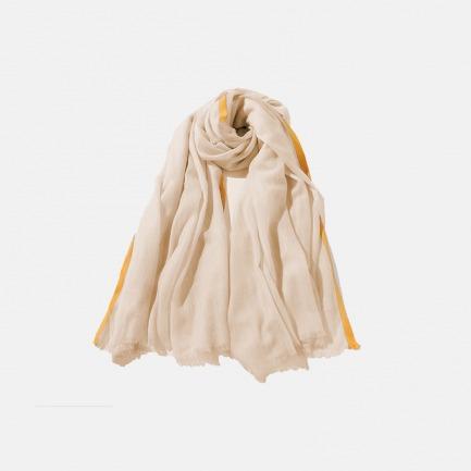 简约精致的薄款边框围巾 | 柔软舒适 颜色百搭不出错