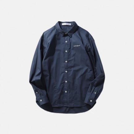 插袋刺绣简约休闲衬衫  | 出众的细节 质感精密