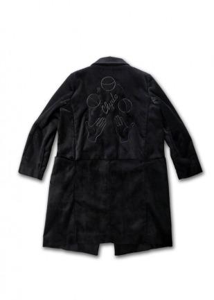 〈李合张LHZ〉2018 THE CIRCUS 棉麻复合绒面刺绣大衣
