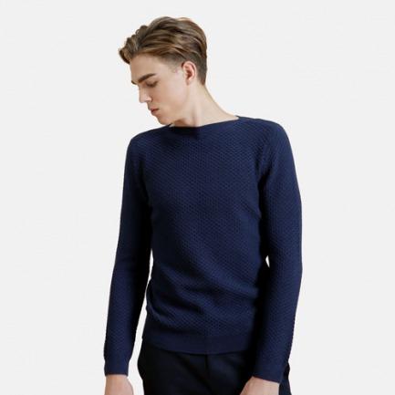 男女同款一字肩菠萝纹毛衫 | 精心设计 满足日常搭配