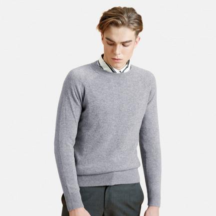 男士经典款圆领插肩毛衫   时尚百搭 别致设计
