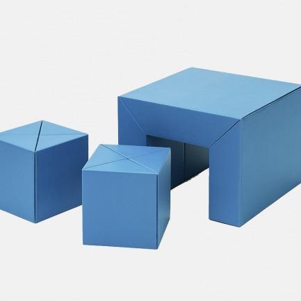 儿童DIY纸板桌凳组合 | 轻巧耐用 和孩子动手组装