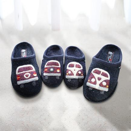 100%羊毛毡亲子拖鞋-货车 | 德国百年手工艺品牌打造
