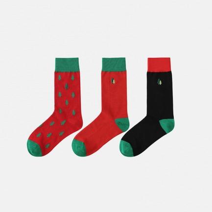 圣诞惊喜小森林纯棉中筒袜 | 圣诞节 送她一片小森林