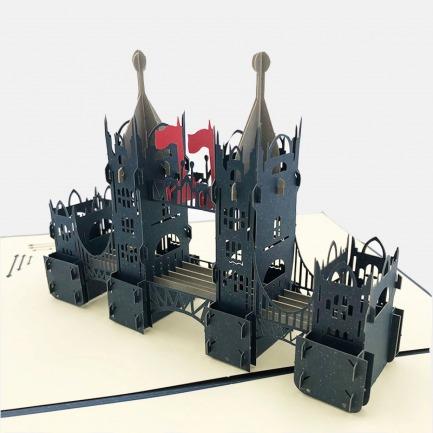 创意礼物伦敦大桥3D贺卡 | 美得像件艺术品