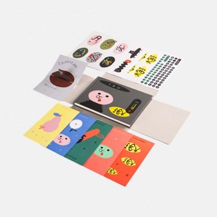 LUCKY小猪2019文具套装 | 原创趣味图案 创意纸笔生活
