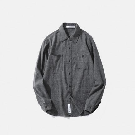 限量款双色编织衬衫 | 高级的灰色随意搭配外套