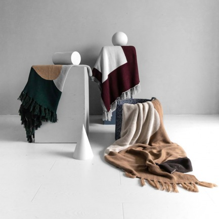 原创设计色块针织盖毯   几何色块艺术感满满