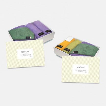 日本古风双色毛巾套装 | 柔软细腻 含浴巾×1 面巾×2