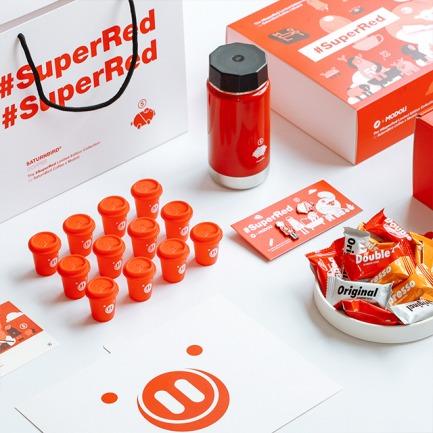 新年限定超级红咖啡礼盒 | 咖啡+牛轧糖+保温杯+徽章
