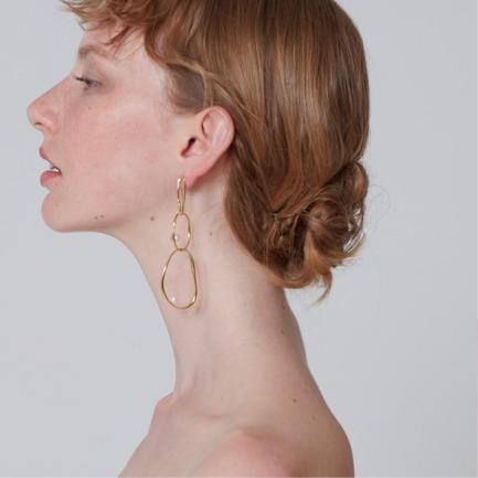 原创设计 金起泡酒耳环 | 让耳饰唤醒你的美 银镀18k
