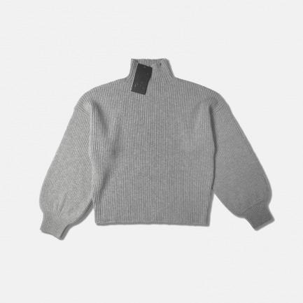 优雅气质羊毛灯笼袖毛衣   美翻一整个冬天 养眼又舒服