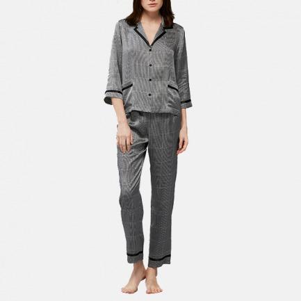 经典复古格纹睡衣套装 | 黑白格纹 低调中散发优雅