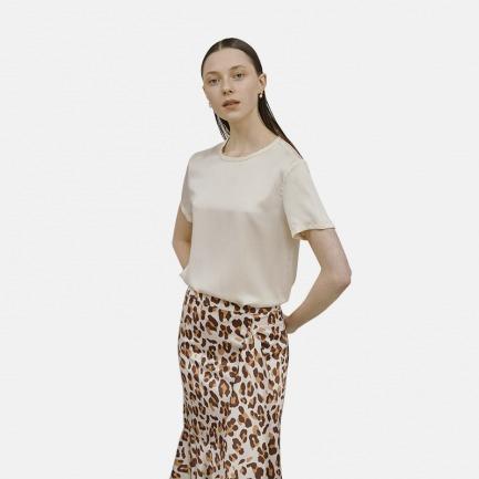 圆领T恤 家居服 -3色 | 100%桑蚕丝 超舒适