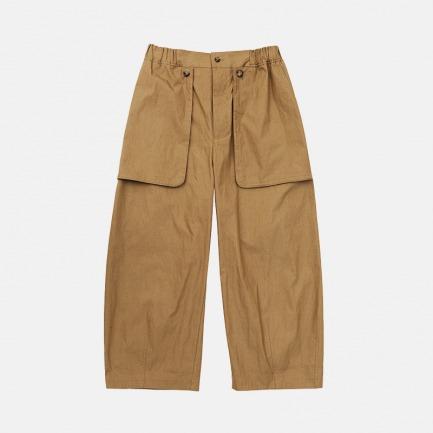 卡其色直筒长裤 男女同款 | 独特贴袋设计 个性别具