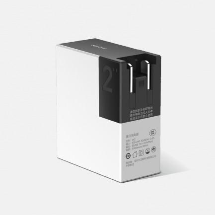 带插头的充电宝5000mAh | 迷你便携 双USB口输出