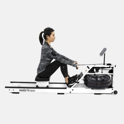 能锻炼全身的智能划船机 | 模拟赛艇体验 白色时尚款