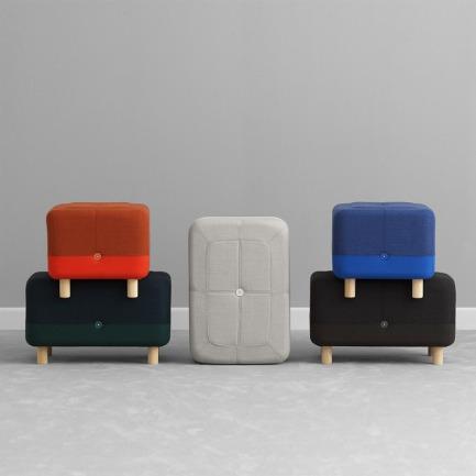 丹麦羊毛纺织脚凳   比宜家更高级的北欧风