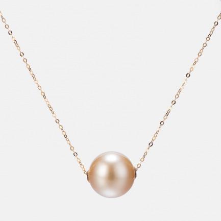 18K金南洋金珠路路通项链 | 几乎无瑕的12mm强光金珠