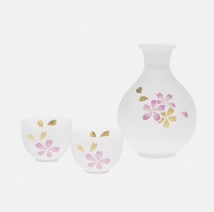 鹿子公主系列樱花酒器套组 | 纯手工绘图、雕刻、打磨