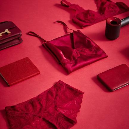 蕾丝内衣礼盒   真丝+蕾丝+情人礼物