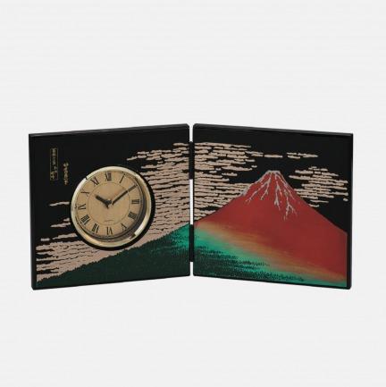 浮世绘手工漆器屏风时钟 | 是屏风摆件也是钟表
