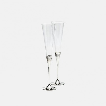 真爱相随银色香槟杯高脚杯 | 气质典雅简约