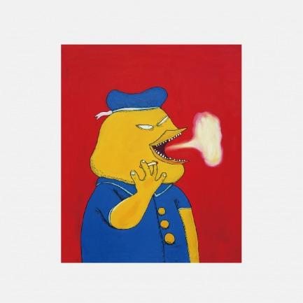 抽烟的嘎嘎 | 彭磊签名版画