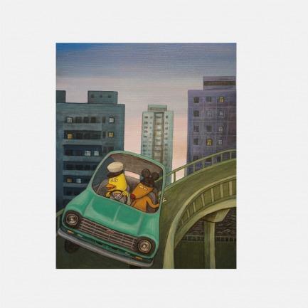 西直门桥 | 彭磊签名版画