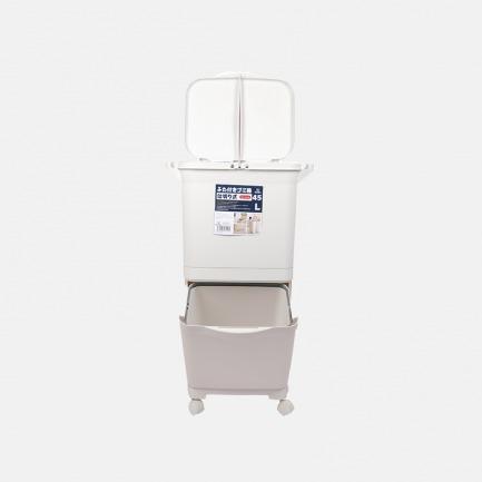 双层分类垃圾桶 | 45L容量,垃圾分四类