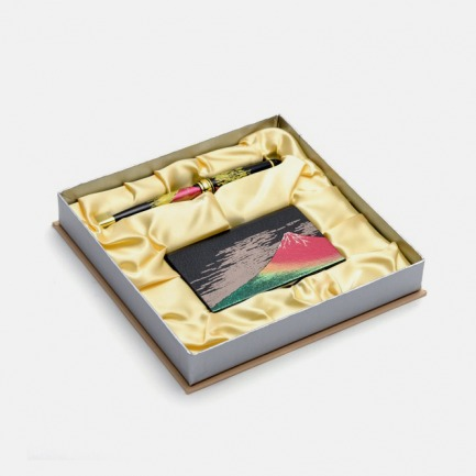 日本手工莳绘名片 笔 套装 | 浮世绘风格礼盒包装
