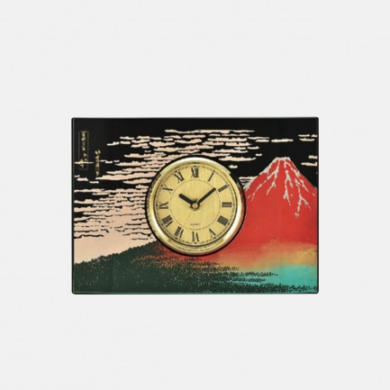赤富士图案装饰时钟 | 日本莳绘漆器