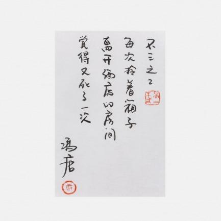 冯唐——《不三》 | 冯唐亲笔书法