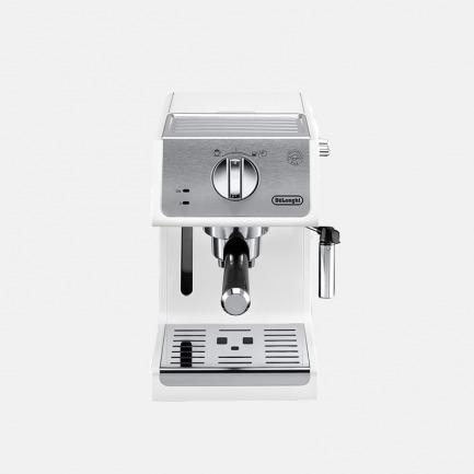 意大利泵压式半自动咖啡机 | 颜值在线,功能简洁