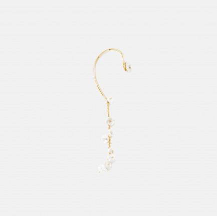 天然淡水花瓣珍珠耳挂   个性优雅,手工制作