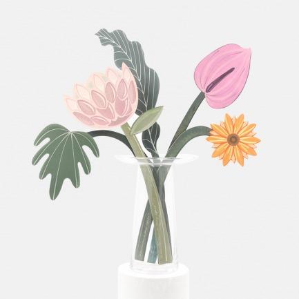 纸艺花束装饰卡片   可喷洒家居喷雾进行扩香
