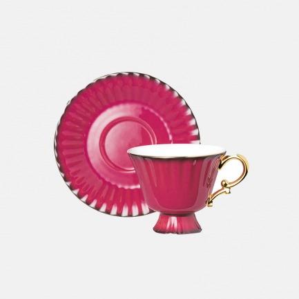 骨瓷欧式网红茶杯套装 | 欧式简约风,渐变高光色调