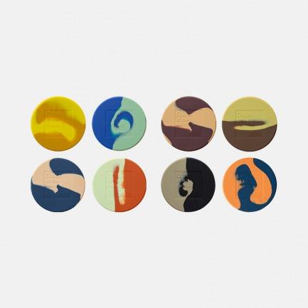 画色杯垫 | 名画中提取颜色混合而成