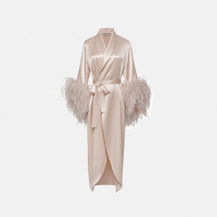 鸵鸟毛 睡袍 | 丝羽结合 尽显慵懒奢华
