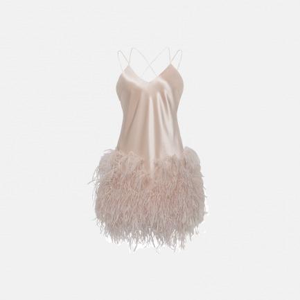 鸵鸟毛 吊带睡裙 | 垂坠顺滑  优雅高贵