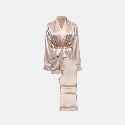 Elite睡袍套装   青果领型,优雅精致