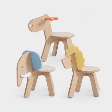 超萌动物椅 | 小鹿,狮子,小象欢迎领养