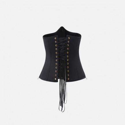 夏夜姝半身款束身衣   黑色缎感经典设计性感妖娆