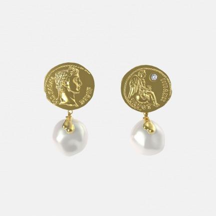 巴洛克珍珠小耳环 | 罗马古币系列,小众好看