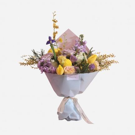 闪光少女混合鲜花礼盒 | 梦幻马卡龙色系
