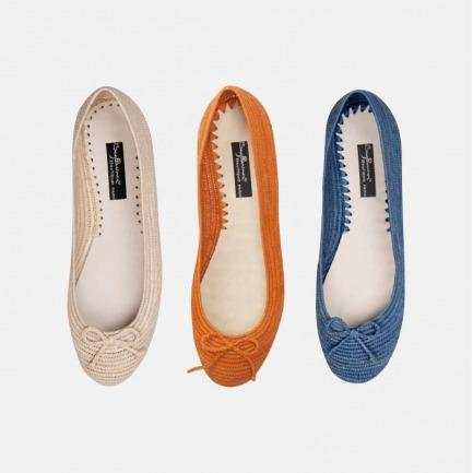 独家拉菲亚芭蕾舞单鞋 | 拉菲亚的手工艺品