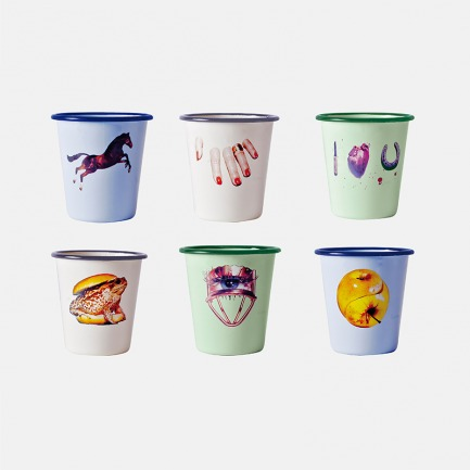 复古搪瓷水杯6件套 | TOILETPAPER系列